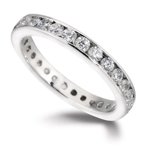 Williamson Brown White Gold Full Eternity Ring