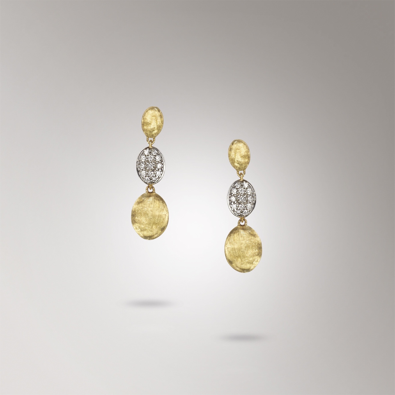 Marco Bicego Siviglia Diamond & Gold Drop Earrings