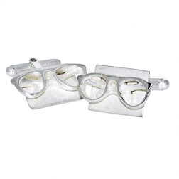Williamson Brown Silver Spectacles Cufflinks
