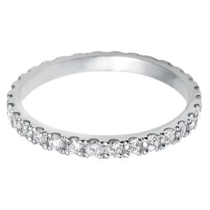 Williamson Brown Diamond Vintage-Style Eternity Ring