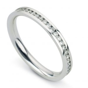 Williamson Brown Narrow Full Eternity Ring