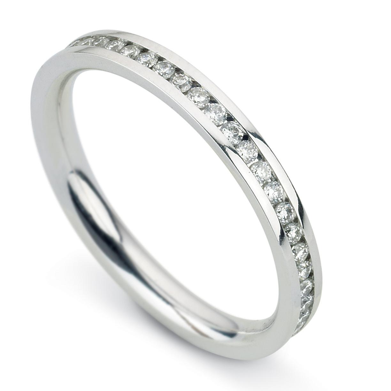 Williamson Brown Narrow Full Eternity Ring