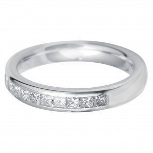 Williamson Brown 0.75ct White Gold Half-Eternity Ring