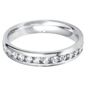Williamson Brown 0.45ct Diamond & White Gold Full Eternity Ring