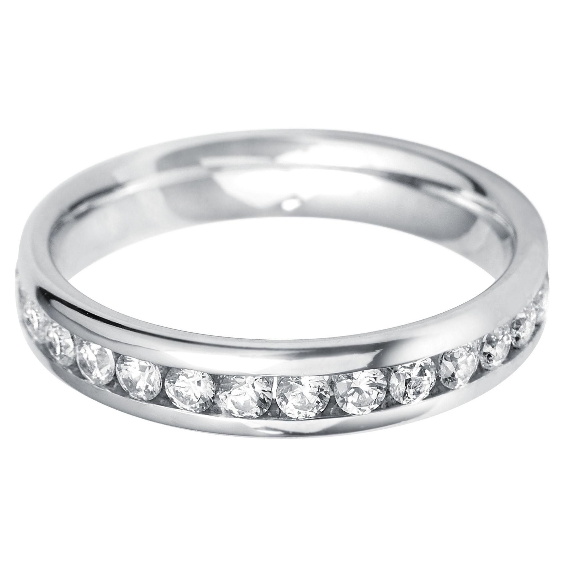 Williamson Brown 0.45ct Diamond & White Gold Full Eternity Ring
