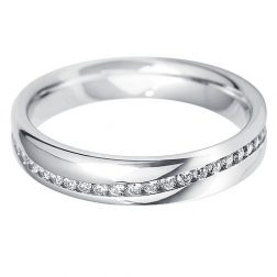 Williamson Brown White Gold Wave Eternity Ring