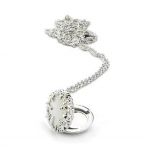 Kasun Silver Ivory Pearl Locket
