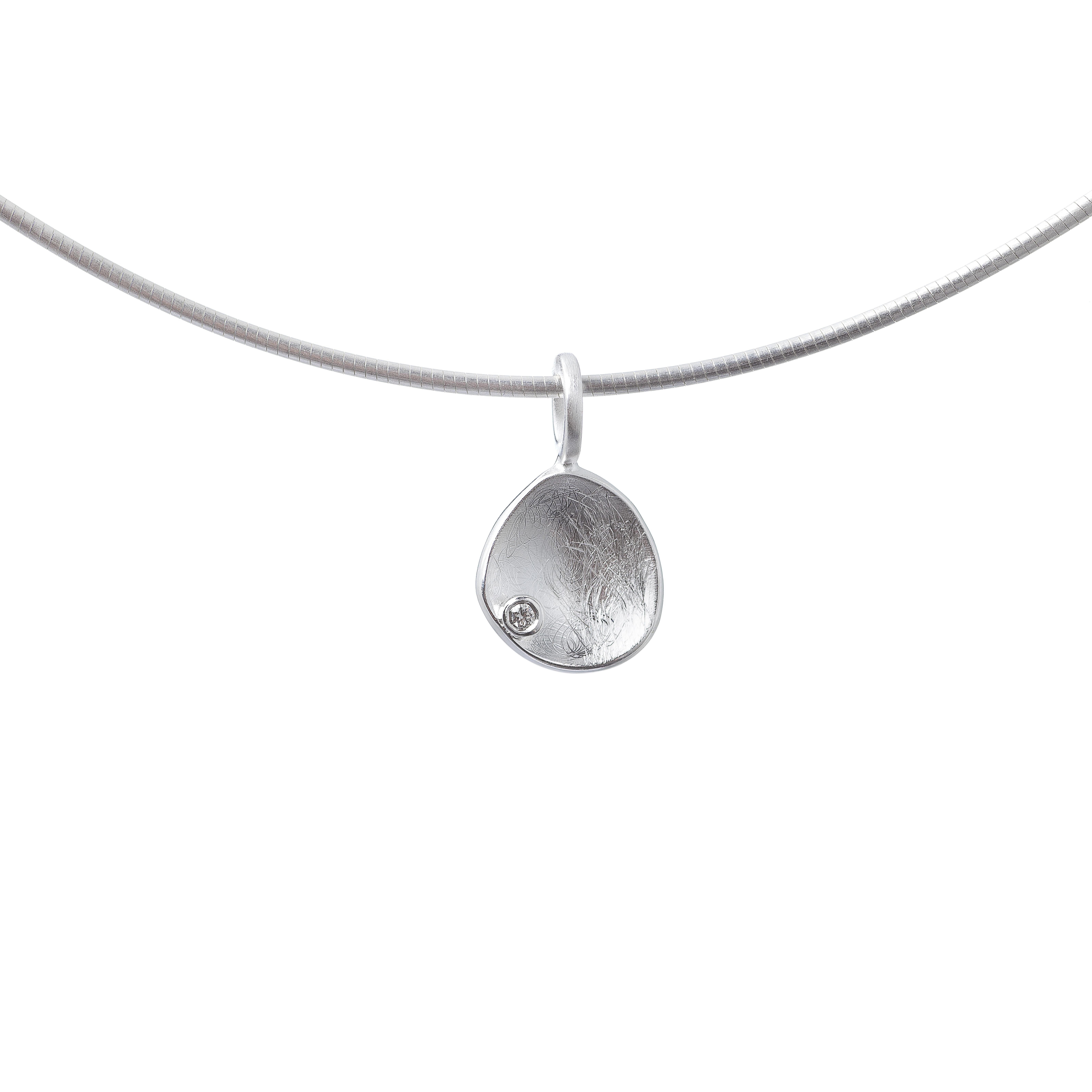 Tezer Teardrop Diamond Pendant
