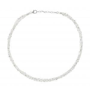Tezer Sterling Silver Sparkle Necklace