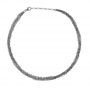 Tezer Black Rhodium Sparkle Necklace