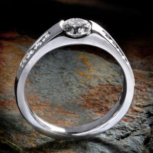 Williamson Brown Contemporary 0.775ct Diamond Engagement Ring