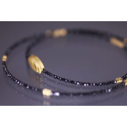 Lindenau Single Strand Black Spinel Necklace