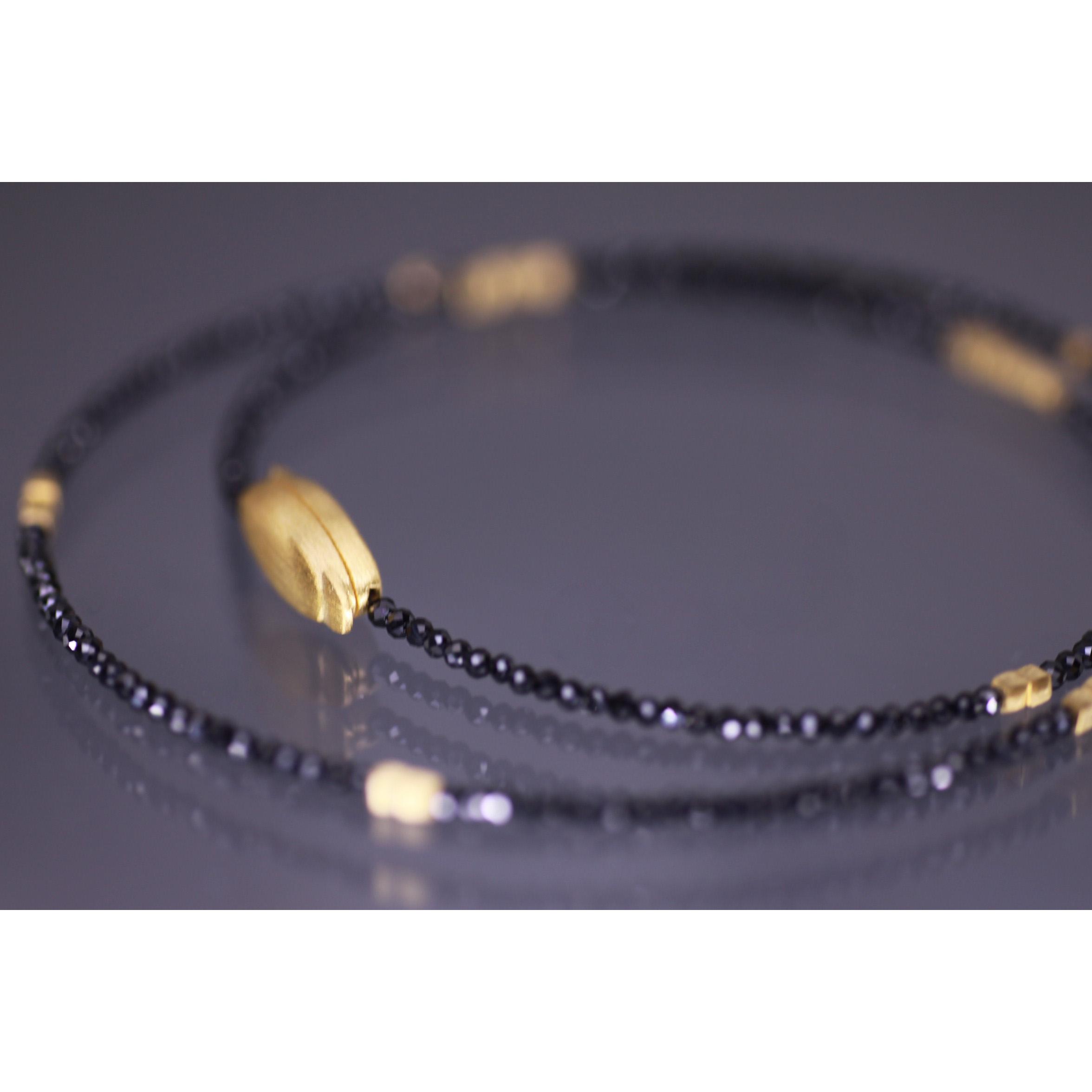 Lindenau Single Strand Black Spinel Necklace