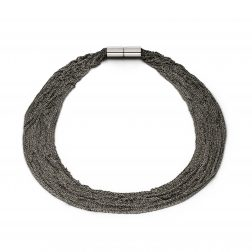 Claudia Milić Heavy Black Shine Necklace