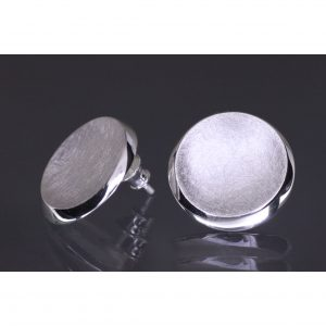Lindenau Silver Dish Earrings