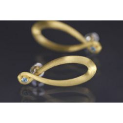 Lindenau Sky Blue Topaz Gold Infinity Earrings