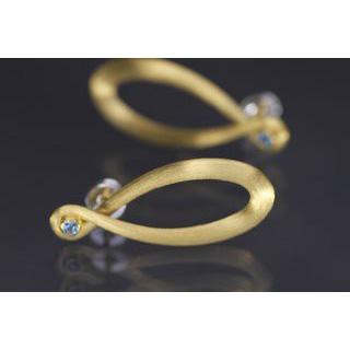 Lindenau Sky Blue Topaz Gold Infinity Earrings