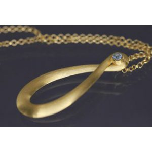 Lindenau Sky Blue Topaz Gold Infinity Necklace