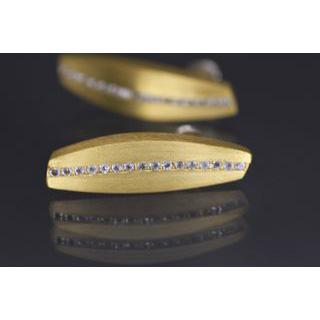Lindenau Gold Plate And Rock Crystal Earrings