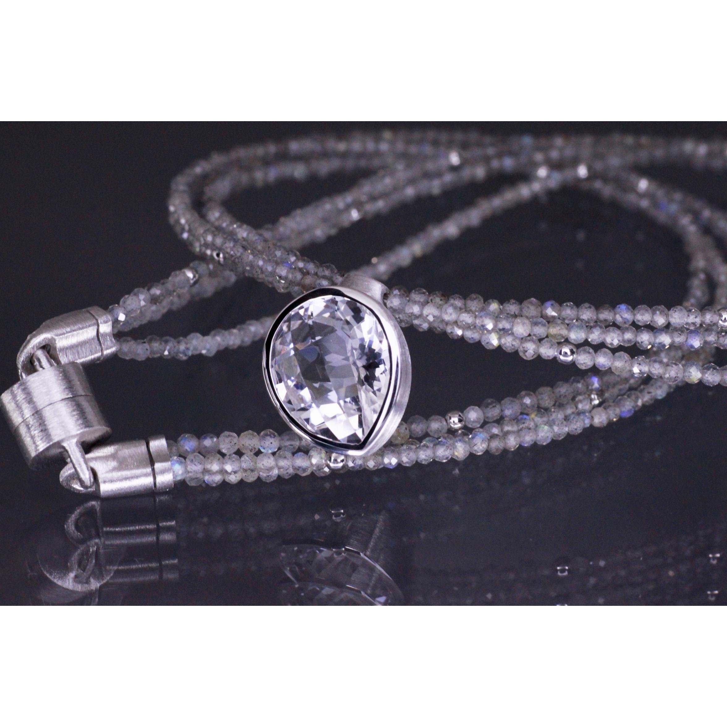 Lindenau Labradorite And Rock Crystal Necklace