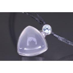 Lindenau Milky Quartz And Hematite Necklace
