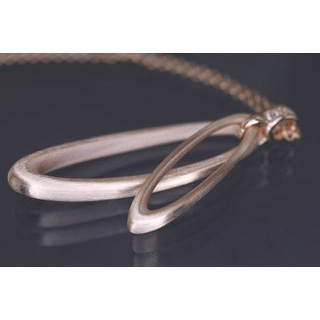 Lindenau Rose Gold Plated Oval Loop Necklace