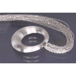Lindenau Silver Circle Necklace