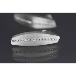 Lindenau Silver And Rock Crystal Earrings