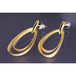 Lindenau Gold Plated Triple Teardrop Earrings