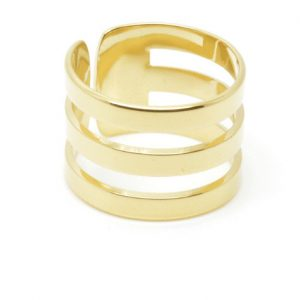 Mya Bay Triple Ring In Gold Plate