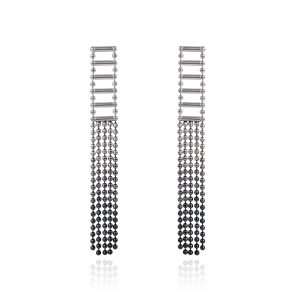 Cara Tonkin Silver Theda Tassel Earrings