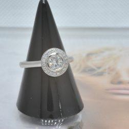 0.70ct (tw)Brilliant Cut GVS Certified Diamond Halo Ring In Platinum