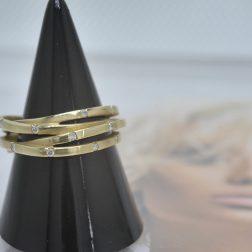 14ct Yellow Gold Diamond Multi Strand Lifestyle Ring