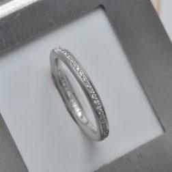 Platinum Full Eternity Ring Set With 0.18ct (tw) Brilliant Cut GVS Diamonds
